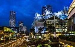 Suntec miasto, Raffles miasta, Marina kwadrat i Suntec miasto przy nocą, fotografia royalty free