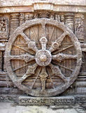 SunTemple_Wheel. The Famous wheel of a Sun Temple in Konark, Orissa Royalty Free Stock Photography