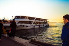 Suntet and cruise stock photography