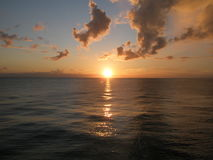 Suntset na costa inglesa Imagens de Stock Royalty Free