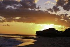 Suntset Portsea Backbeach photo libre de droits