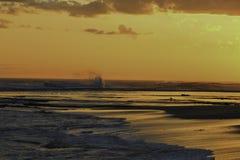 Suntset Portsea Backbeach Photographie stock