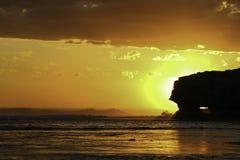 Suntset Portsea Backbeach Photographie stock libre de droits