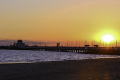 Suntset at St Kilda Pier. After sunset at St Kilda Pier, Victoria, Australia Royalty Free Stock Image