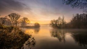 Sunup de l'aurore Images libres de droits