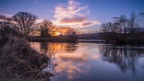Sunup de la aurora Imagen de archivo libre de regalías