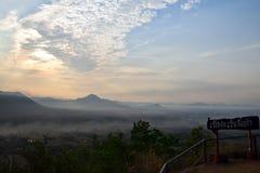 Sunup en el distrito de Chiang Kan, provincia de Loei, Tailandia imagen de archivo libre de regalías