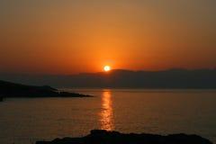 Sunup en sarti fotografía de archivo