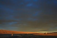 Sunuset на реке Стоковое Изображение RF
