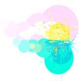 sunvattenfärg Royaltyfri Fotografi