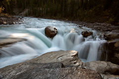 Sunwapta Falls in Jasper Stock Image