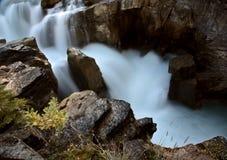 Sunwapta Falls in Jasper. National Park Stock Images