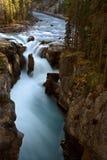 Sunwapta Falls in Jasper. National Park Stock Photo