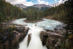 Sunwapta Falls Jasper National Park. Sunwapta Falls, Jasper National Park, Alberta, Canada stock image