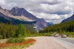 Sunwapta pass, icefield parkway Royalty Free Stock Image