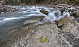 Sunwapta Waterfall Alberta Canada Stock Image