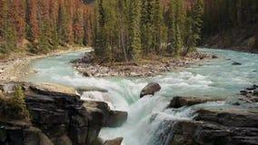 Sunwapta waterfalls on the icefield parkway Jasper Canada