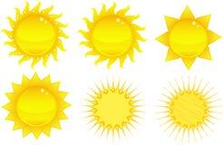 sunwhite vektor illustrationer
