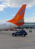 Sunwing航空公司是一家迅速地增长的进步公司在加拿大 免版税库存照片