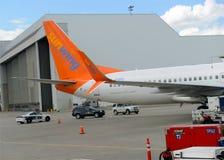Sunwing航空公司是一家迅速地增长的进步公司在加拿大 库存图片