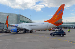 Sunwing航空公司是一家迅速地增长的进步公司在加拿大 免版税库存图片