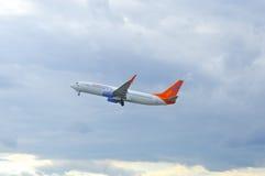 Sunwing飞机  免版税图库摄影