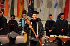 SUNY Potsdam 2012 Graduation Ceremony. Grand Marshal Jan Trybula at SUNY Potsdam (State University of New York at Potsdam) 2012 Graduation Ceremony at Sara M Royalty Free Stock Photos