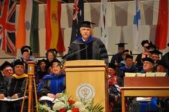 SUNY Potsdam 2012 Graduation Ceremony. Dr. Galen K. Pletcher Hon at SUNY Potsdam (State University of New York at Potsdam) 2012 Graduation Ceremony at Sara M Stock Images