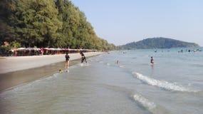 Suny thai beach. Day light suny thai beach Stock Photography