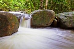 Suoi Tranh瀑布在Phu Quoc,越南 图库摄影