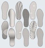 Suole di scarpa Fotografia Stock