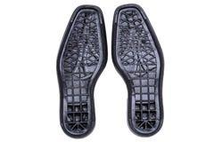 Suole di scarpa nere Fotografia Stock Libera da Diritti
