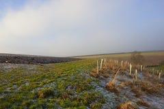 Suolo gelido dell'aratro nell'inverno Fotografia Stock Libera da Diritti