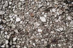 Suolo in pieno delle rocce rotte Fotografia Stock Libera da Diritti