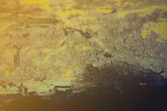 Suolo sui vecchi ambiti di provenienza della ruggine - fondo perfetto con spazio Fotografia Stock Libera da Diritti