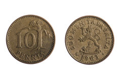 Suomen coins Royalty Free Stock Images