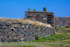 Suomenlinn堡垒全景在夏天 库存图片