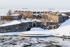 Suomenlinna fortress bastions and royal gates Stock Photo