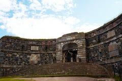 Suomenlinna fortress gate Stock Photos