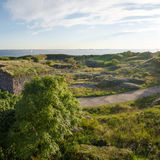 Suomenlinna fortress landscape in Helsinki, Finland Royalty Free Stock Images