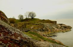 Suomenlinna fortress. The rocks at the Suomenlinna fortress, Helsinki, Finland Stock Photos