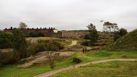 Suomenlinna fortress royalty free stock image