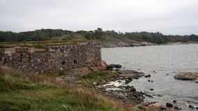 Suomenlinna fortress. View from Suomenlinna, the historical defence fortress of Helsinki, signed on the UNESCO List Stock Images