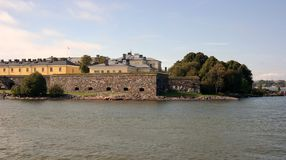 Suomenlinna fortress. View of Suomenlinna, historical defence fortress and the UNESCO site of Helsinki Royalty Free Stock Photo