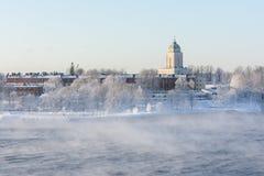 Suomenlinna in Helsinki, Finland bij de winter Royalty-vrije Stock Afbeelding
