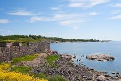 Suomenlinna island shore Royalty Free Stock Image