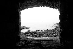 Suomenlinna Sea Fortress Lookout stock image