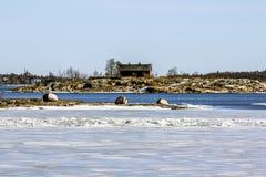 Suomenlinna-Seefestung auf den Inseln im Hafen von H Stockfotos