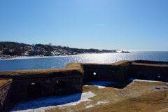 Suomenlinna Sveaborg, Unesco World Heritage site, one of the most popular tourist attractions in Helsinki, Finland stock photography
