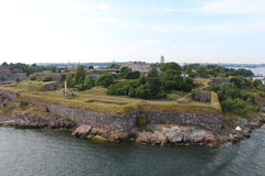 Suomenlinna till Viapori 1918 (finska) eller Sveaborg (svensken) Fotografering för Bildbyråer